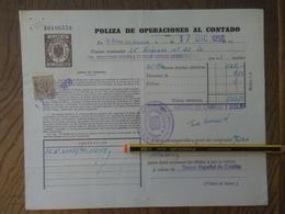 Q5110-SELLOS FISCALES TIMBROLOGIA FILATELIA FISCAL ENTEROS FISCALES POLIZA OPERACIONES AL CONTADO ETAPA DICTADURA FRANQU - Fiscales