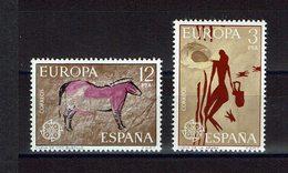 SERIE TIMBRES ESPAGNE MNH 1975 EUROPE CEPT PEINTURES PREHISTORIQUES CAVES - Europa-CEPT