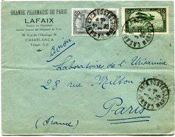 MAROC LETTRE PAR AVION DEPART CASABLANCA 3-9-25 MAROC POUR LA FRANCE - Maroc (1891-1956)