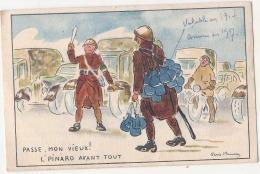 ***   MILITARIA  - Humour - Passe Mon Vieux Le Pinard Avant Tout - TTB écrite - Humour