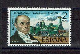 TIMBRE ESPAGNE MNH 1974 TRAIN TREN  Chemin De Fer BARCELONA-MATARO - Trenes