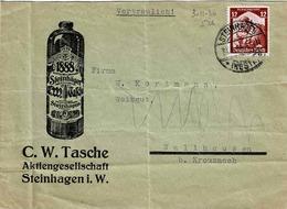 TP N°526 (Y&T) Sur Enveloppe De Steinhagen Pour Wallhausen - Deutschland