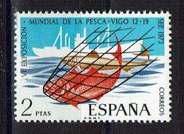 TIMBRE ESPAGNE MNH 1973 BATEAU La Pêche - Alimentación