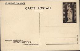 Entier CP Mémorial Américain De Montfaucon American Memorial Photo 1 Vue Générale CP Verticale Storch K1a Neuf - Biglietto Postale
