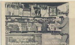 AK Marketenderei II. Batl. Regiment Alexander - Weltkrieg 1914-18