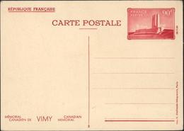 Entier CP Rouge Mémorial Canadien Vimy Canadian Memorial Photo 3 Vue 3/4 Du Monument Storch J3C Neuf - Biglietto Postale