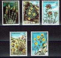 SERIE 5 TIMBRES ESPAGNE MNH 1974 FLORE FLEURS - Vegetales