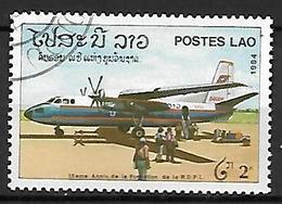 LAOS    -    AVION   -    Oblitéré . - Avions