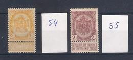 Belgique: N° 75*. - 1893-1800 Fijne Baard