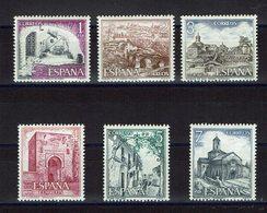 SERIE 6 TIMBRES ESPAGNE MNH 1975 MONUMENTS TOURISTIQUES - Monumentos