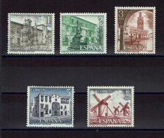 SERIE 5 TIMBRES ESPAGNE MNH 1973 MONUMENTS TOURISTIQUES - Moulins - Monumentos