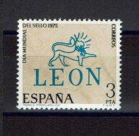 TIMBRE ESPAGNE MNH 1975 JOURNÉE MONDIALE DU TIMBRE - LEON - Día Del Sello