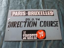 Plaque Alu  Paris Bruxelles  1974 - Cyclisme