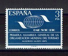 TIMBRE ESPAGNE MNH 1975 ORGANISATION MONDIALE - TOURISME - Organizaciones