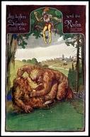 Das Tapfere Schneiderlein U.d. 2 Riesen, Brüder Grimm, Bund Der Deutschen In Niederösterreich, Nr, 241, Pinx H. Pinggera - Märchen, Sagen & Legenden