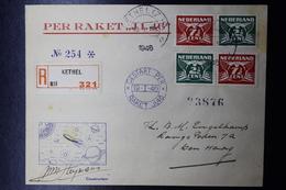 Raket Post / Rocket Mail Van Vlak Na De Oorlog, Waarbij Brieven Kaarten En Labels - Periode 1891-1948 (Wilhelmina)