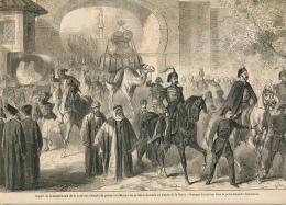 1861 : Départ De Constantinople Vers La Mecque, Présents Au Temple De Caaba, Porte De Baqtché-Capoussou, Page Originale - Documents Historiques