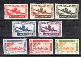 Mauritania -  1942. Aereo E Carovana Di Cammelli. Plane And Camels Caravan. Complete MNH Fresch Set - Mauritania (1906-1944)