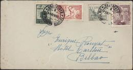 Espagne CAD Estafeta Sucursal N°1 Barcelona 10 Nov 44  9 YT 580 665 Barcelone 71 + Express 28 Pour Bilbao - 1931-50 Gebraucht