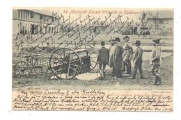 WESTPREUSSEN - TOLKEMIT-CADINEN, Besuch Kaiser Wilhelms, Drillmaschine Fa. Zimmermann Halle/Saale, 1902 - Westpreussen