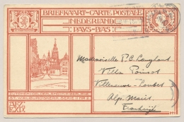 Nederland - 1927 - 12,5 Cent Geïllustreerde Briefkaart Zutphen, G199b Van Delft Naar Villeneuve / France - Ganzsachen