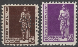 Chamber Of Pharmacists Social Charity Stamp 1930's Yugoslavia Pharmacy Medicine Drug LABEL VIGNETTE CINDERELLA Perfin - Beneficenza