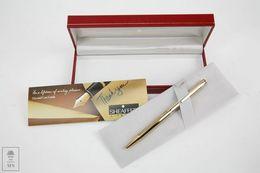 Sheaffer Ball Point Pen - Gold Plated - White Dot - New In Box - Otros