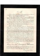 Famille Duverger De Villeneuve     Faire- Part Décès  1905          Ref 28 - Décès