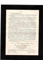 Famille  De Certaines ( Maire D'Anthien)   Faire- Part Décès  1905  Villemolin Par Corbigny       Ref 11 - Avvisi Di Necrologio
