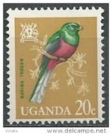 Uganda 1965 - Yv 67 (MNH) - Narina Trogon (Apaloderma Narina) - Oiseaux