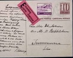 Schweiz Suisse 1941: Exprès-Karte Mit Zu F31 Mi 391 Yv PA31 Mit O ARDEZ 29.III.45 (GRAUBÜNDEN) Zumstein CHF 6.50 - Interi Postali