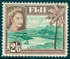FIJI 1954 River Scene 2s.6d., XF MNH, MiNr 135, SG 292; C.v. £3.25 - Fiji (1970-...)