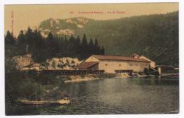 Environs De Nantua - Lac De Sylans (pêcheurs, Entrepôts Usine à Glaçons, Wagons Pour Le Transport De Ceux-ci - Pas Circ - Nantua