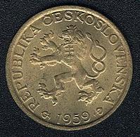 Tschechoslowakei,1 Koruna 1959, AUNC! - Czechoslovakia
