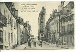 21 - SAINT JEAN DE LOSNE / RUE DE LA LIBERTE - L'EGLISE ET LA MAIRIE - France