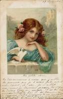 Fanciulla Con Colomba - Cartolina Liberty - Art Nouveau - VIAGGIATA - Rif. 209 T - Mujeres