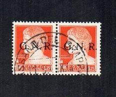 Italia - 1944 - Coppia Imperiale Da 1,75 Lire Sovrastampato G.N.R. - Verona - Usato - Sassone 481 -  (FDC12223) - 1944-45 République Sociale