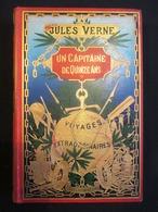 SUPERBE ETAT - RARE ** JULES VERNE 1898 - UN CAPITAINE DE QUINZE ANS ** Hetzel - 372pp - 6 Chromotypographies En Couleur - 1801-1900