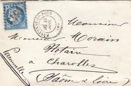 LETTRE. 20 JUIL 74. SEINE FONTENAY-SOUS-BOIS. GC 1543. POUR CHAROLLES - 1849-1876: Periodo Classico