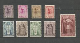 OCB 342 ==> 350 * Postfris Met Scharnier  MERCIER - Belgique