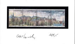 1995 Luxembourg Ville Européenne De La Culture,Carnet Série 4 Timbres, Signée Carlo Losch (3Scans) - Booklets
