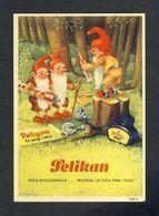 Buvard PELIKAN Num. 1908 R. Encre, Gnomes (Ref. 99696) - Buvards, Protège-cahiers Illustrés