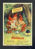 Buvard PELIKAN Num. 910 R. Encre, Gnomes (Ref. 99696-910R) - Buvards, Protège-cahiers Illustrés
