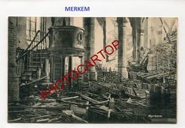 MERKEM-Interieur De L'Eglise-Carte Allemande-Guerre 14-18-1WK-Belgien-Feldpost- - Houthulst