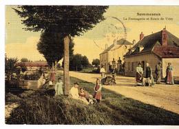 51 Sommesous- , La Fromagerie Net Route De Vitry. Belle Animation,colorée,toilée Tbe Datée 1909. - Autres Communes
