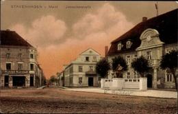 Cp Reuterstadt Stavenhagen, Ansicht Vom Markt Und Der Ivenackerstraße - Allemagne