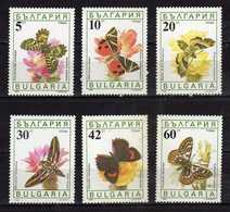 Bulgaria 1990 Butterflies./Papillons./Fauna/Insects/Butterflies & Moths./MNH - Neufs