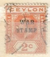 "CEYLON    1918 King George V     Overprinted ""WAR STAMP"" USED - Ceylon (...-1947)"
