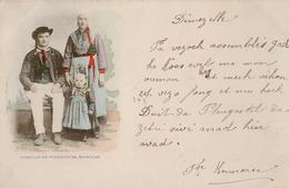PLOUGASTEL DAOULAS - Famille - Villard Edit Quimper- Précurseur Circulée 1900 - Plougastel-Daoulas