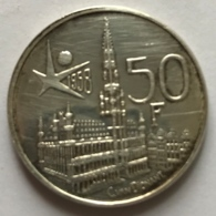Pièce De Monnaie. Belgique. Roi Baudouin. Expo58. 50 Francs. - 1951-1993: Baldovino I